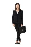 Young businesswoman with briefcase Royalty Free Stock Image