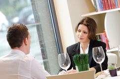 Young businesswoman on a business meeting Stock Images
