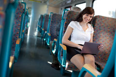 Young businesswoman on a business travel Royalty Free Stock Photos