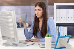 Young businesswoman busy working stock images