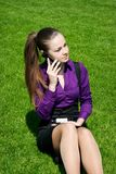 Young businesswoman calling Stock Images