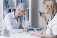 Young businesswoman with cancer Royalty Free Stock Images