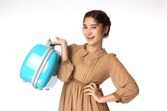 Young Businesswoman Carrying Briefcase Stock Image