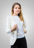 Young businesswoman in casual wear Royalty Free Stock Photos