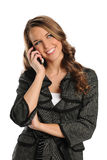 Young Businesswoman on the cell phone Stock Images