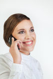 Young businesswoman with cellphone Royalty Free Stock Image