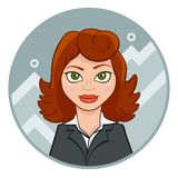 Young businesswoman with chart Stock Images