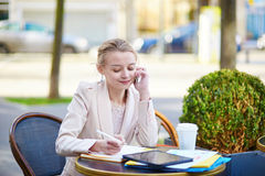 Young businesswoman on a coffee break Royalty Free Stock Photography