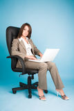Young businesswoman in costume Stock Photos