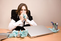 Young businesswoman crying Stock Photo