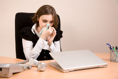 Young businesswoman crying Royalty Free Stock Photo