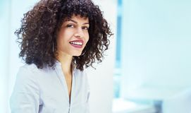 Young businesswoman in start-up company stock image