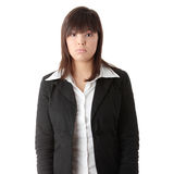 Young businesswoman depression Stock Photography