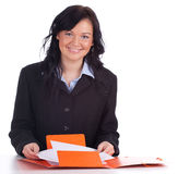 Young businesswoman with documents Stock Photo