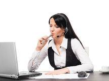 Young businesswoman with an electronic cigarette Royalty Free Stock Images
