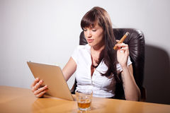 Young businesswoman enjoying her time Royalty Free Stock Images