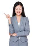 Young businesswoman with finger point up Royalty Free Stock Photo
