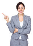 Young businesswoman with finger point up Royalty Free Stock Images