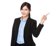 Young businesswoman with finger showing up Royalty Free Stock Photo