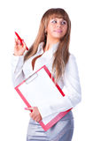 Young businesswoman with folder Royalty Free Stock Photo