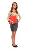 Young businesswoman with folder Stock Photo