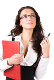 Young businesswoman with folder Royalty Free Stock Photography