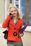 Business woman calling on the phone Stock Photography