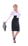 A young businesswoman in formal clothes Royalty Free Stock Photos
