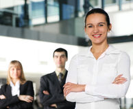 A young businesswoman in front of her colleagues Royalty Free Stock Photo