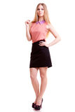Young businesswoman full body over white background Stock Photo