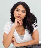 Young businesswoman getting tired Royalty Free Stock Photography