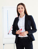 Young businesswoman giving a conference Stock Images