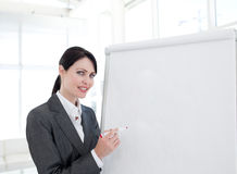 Young businesswoman giving a presentation Royalty Free Stock Photo