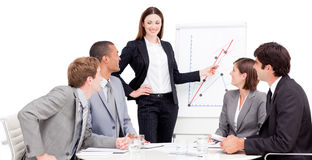 Young businesswoman giving a presentation Stock Images