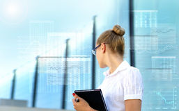 A young businesswoman in glasses Royalty Free Stock Photo