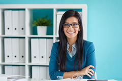 Young businesswoman with glasses Stock Image