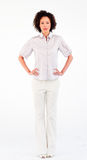 Young businesswoman with hands on hips Royalty Free Stock Images
