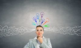 Young businesswoman has an idea Royalty Free Stock Images