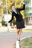 Young businesswoman having fun Royalty Free Stock Photography