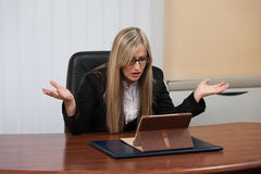 Young Businesswoman Having Stress In The Office Stock Photo