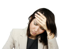 Young businesswoman with headache Royalty Free Stock Photography