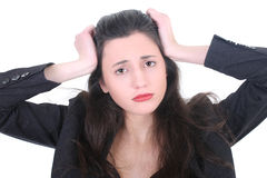 Young businesswoman with a headache Stock Photography