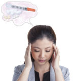 Young businesswoman Headache Royalty Free Stock Photography