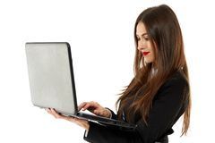 Young businesswoman on her laptop Royalty Free Stock Photo
