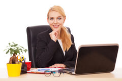 Young businesswoman in her office Royalty Free Stock Photos