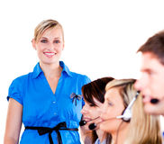 Young businesswoman with her team Stock Photo