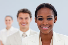 Young businesswoman and her team Stock Photography