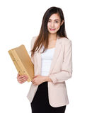 Young businesswoman hold with folder Royalty Free Stock Photography