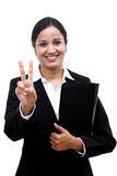 Young businesswoman holding file Royalty Free Stock Photography