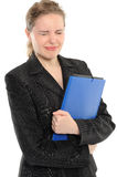 Young Businesswoman Holding Folder Stock Photo
